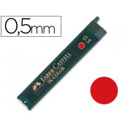 Minas faber de colores 9085 05 mm roja estuche de 12 minas