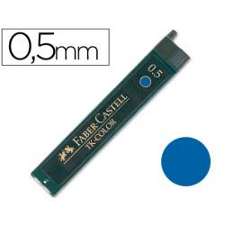 Minas faber de colores 9085 05 mm azul estuche de 12 minas