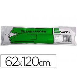 Saco guardarropa galga 100 62x120 cm rollo de 5 sacos