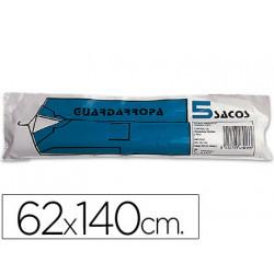Saco guardarropa galga 100 62x140 cm rollo de 5 sacos