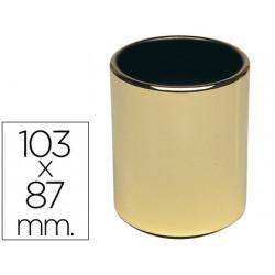 Cubilete portalapices apc188 metal redondo dorado