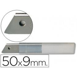 Repuesto cuter estrecho metalico qconnect 05x9 mm blister de 10 cuchillas