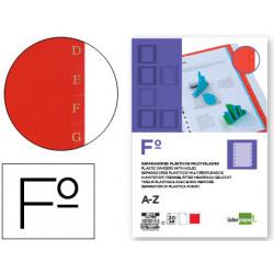 Separador liderpapel plastico alfabetico az din a4 16 taladros juego