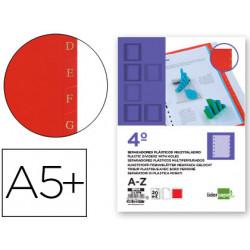 Separador liderpapel plastico alfabetico az cuarto