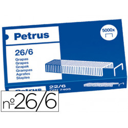 Grapas petrus nº 26/6 caja de 5000