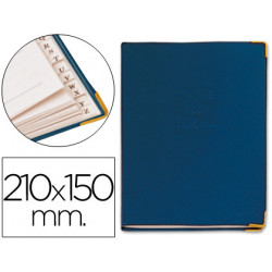 Listin telefonico tapa flexible tamaño 21x15 cm con cantonera dorada