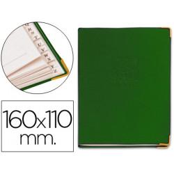 Listin telefonico 5030 tapa flexible tamaño 16x11 cm con cantonera dorada