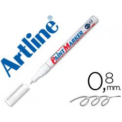 Rotulador artline marcador permanente ek444 xf blanco punta redonda 08 m