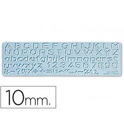 Plantilla rotulacion 1575 letras y numeros de 10 mm