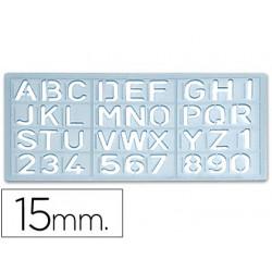 Plantilla rotulacion 1585 letras y numeros de 15 mm