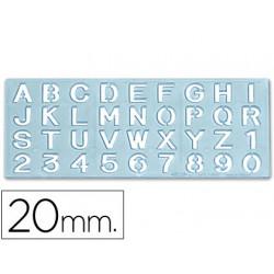 Plantilla rotulacion 1595 letras y numeros de 20 mm