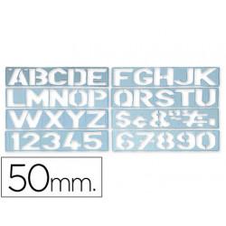 Plantilla rotulacion 1700 letras y numeros de 50 mm