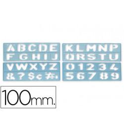Plantilla rotulacion 1800 letras y numeros de 100 mm