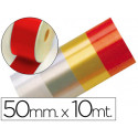 Cinta fantasia 10 mt x 50 mm rojo