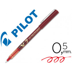 Rotulador pilot punta aguja v7 rojo 07 mm