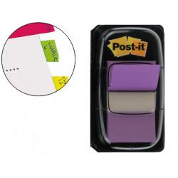 Banderitas separadoras 6808 violeta dispensador de 50