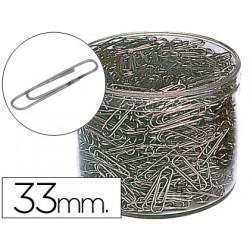 Clips niquelados n 2 33 mm cubilete de 1000 clips