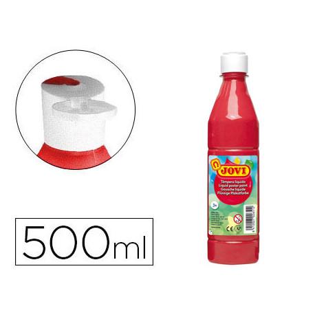Tempera liquida jovi escolar 500 ml bermellon