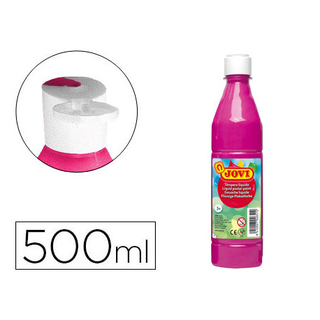 Tempera liquida jovi escolar 500 ml magenta