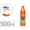 Tempera liquida jovi escolar 500 ml naranja