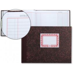 Libro cartone cuarto 100 hojas caja entrada y salida apaisad9962