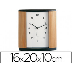 Reloj de oficina imitacion a madera century 346