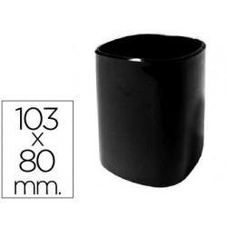 Cubilete portalapices 102n plastico negro 103x80 mm