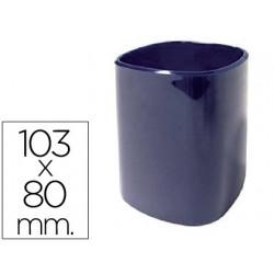 Cubilete portalapices 102a plastico azul 103x80 mm