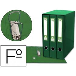 Modulo liderpapel 3 archivadores folio 2 anillas mixtas 40mm verde