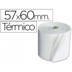 Rollo sumadora termico qconnect 57 mm ancho x 60 mm diametro