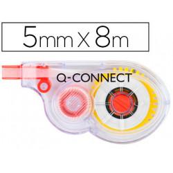Corrector qconnect cinta blanco 5 mm x 8 mt