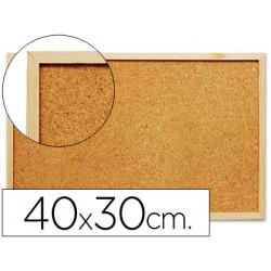 Pizarra corcho qconnect 40x30 cm marco de madera