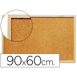 Pizarra corcho qconnect 90x60 cm marco de madera