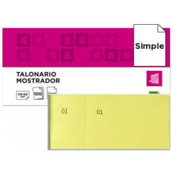 Talonario liderpapel mostrador 50x110 mm tl07 amarillo con matriz