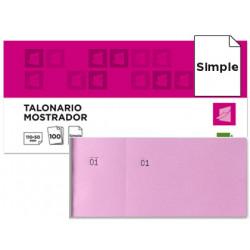 Talonario liderpapel mostrador 50x110 mm tl11 rosa con matriz
