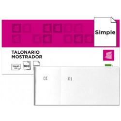 Talonario liderpapel mostrador 50x110 mm tl09 blanco con matriz