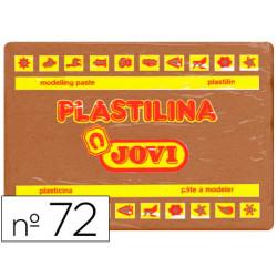 Plastilina jovi 72 marron unidad tamaño grande