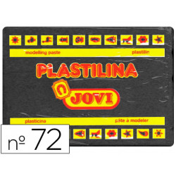 Plastilina jovi 72 negro unidad tamaño grande