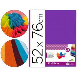 Papel seda liderpapel violeta 52x76 cm 18 gr paquete de 25 hojas