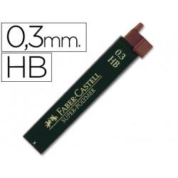 Minas faber grafito 9063 03 mm hb estuche de 12 minas