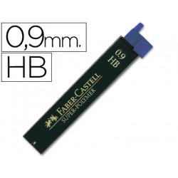 Minas faber grafito 9069 09 mm hb estuche de 12 minas