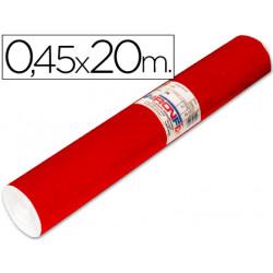 Rollo adhesivo aironfix unicolor rojo brillo 67010 rollo de 20 mt