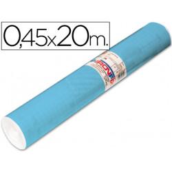 Rollo adhesivo aironfix unicolor azul mate claro 67013rollo de 20 mt