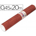Rollo adhesivo aironfix madera oscuro 67183 rollo de 20 mt