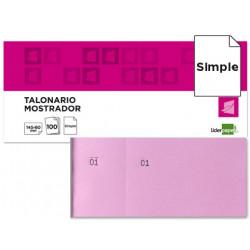 Talonario liderpapel mostrador 60x145 mm tl05 rosa con matriz