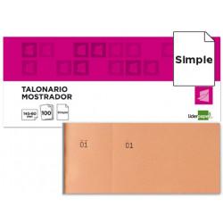 Talonario liderpapel mostrador 60x145 mm tl04 naranja con matriz