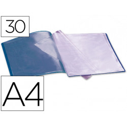 Carpeta liderpapel escaparate 37922 30 fundas polipropileno din a4 azul