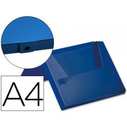 Carpeta beautone portadocumentos broche 32512 polipropileno din a4 azul lo