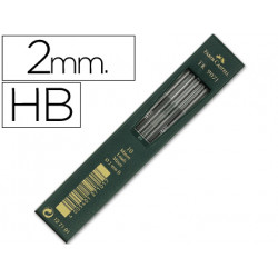 Minas faber grafito 9071 hb 2 mm estuche de 10 minas