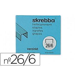 Grapas skrebba sk26/6 442 galvanizadas caja de 5000